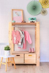 estanteria alistonada perchero infantil