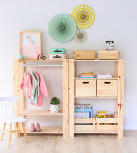 estanteria perchero de madera decoracion infantil diy