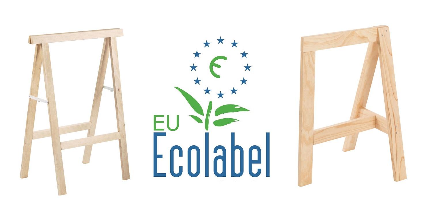 caballete ecolabel madera ecológica