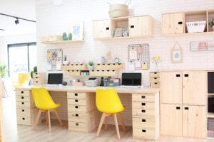 escritorio cajoneras armario madera maciza