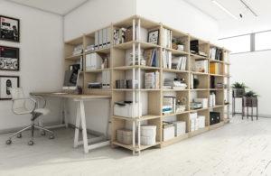 estanteria esquinera madera sostenible
