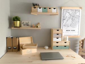 cajas de madera orden es escritorio