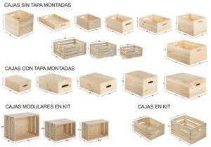 cajas de madera para poner orden en casa