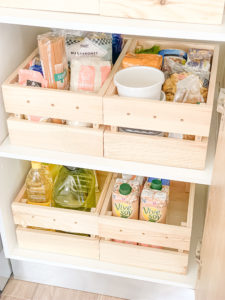 cajas de madera orden cocina