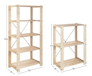 estanterías robustas de madera para despensa