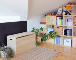 baul madera maciza salon