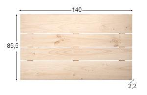 encimera de madera de pino